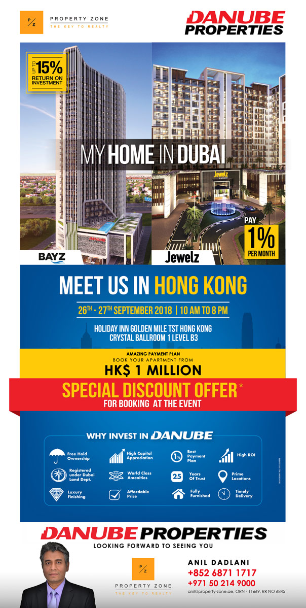 Dubai Property Showcase Event in Hong Kong by Danube Properties.